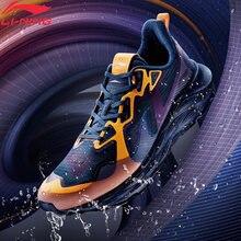 Li-ning men ln nuvem escudo almofada tênis de corrida à prova dwaterproof água forro luz espuma sapatos esportivos masculino arhq143