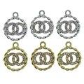 10 шт./лот 18 мм круглая эмалированная металлическая подвеска из сплава, подвеска для браслета, ожерелья, «сделай сам», модная фурнитура для юв...