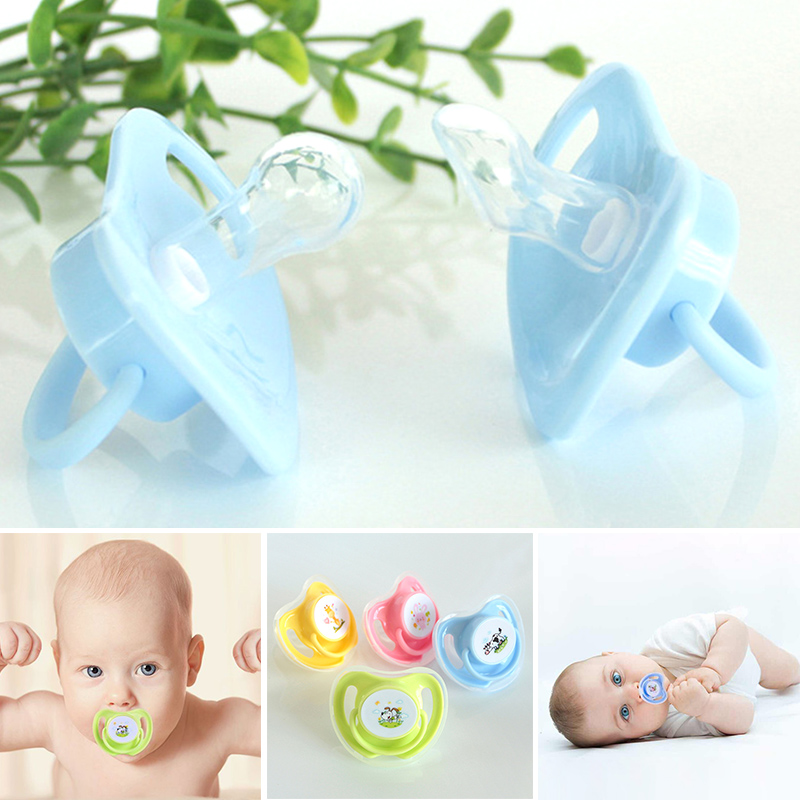 Infant Silicone Pacifier Dummy Nipple Soother Soft With Lid Comfortable Gift BM88