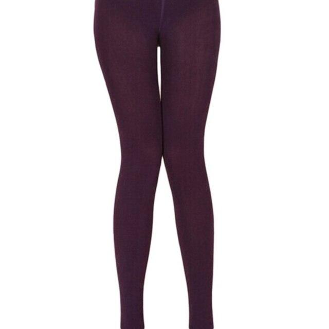 Solid Color Warm Pants Women Casual Leggings Fall Winter Girls Pencil Leggings Female High Elastic Slim Length Leggings 4