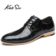 Buy KATESEN men shoes Classic fashion Genuine Leather shoes office dress shoes men casual shoes non-slip flat zapatos de hombre directly from merchant!