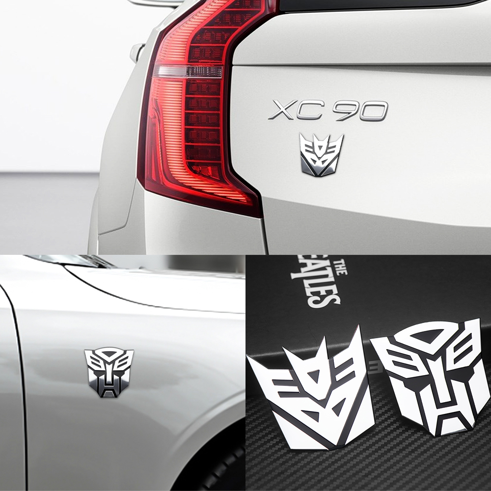 Car Styling Aluminum 3D Car Stickers Cool Autobots Logo Transformers Badge Emblem Tail Decal Motorcycle Bicycle Car Decoration
