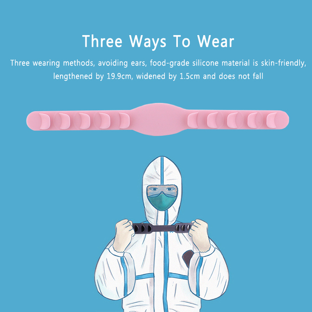 NEW 5PCS Soft Face Mask Ear Hooks Buckle Kids Adjustable Earache Ear Pain Prevention Health Care Suppies Mask Extension Belt 5