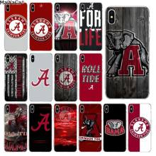 Maiyaca Alabama Crimson Tide Roll Tide Mewah Penutup Telepon untuk iPhone 11 Pro XS MAX 8 7 6 6S plus X 5 5S SE XR Cover(China)