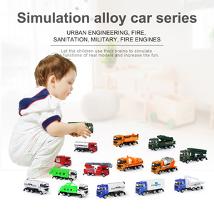 Image 3 - 1 Pc Alloy Metal Car Model 5 Color Container Truck Diecast Model Kid Children Educational Toys Christmas Birthday Gift For Boys