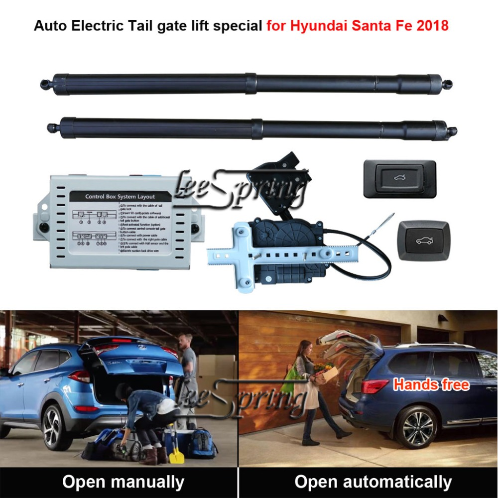Samochód smart auto elektryczny podnośnik tylnej klapy specjalna dla Hyundai Santa Fe 2018 w Klapy bagażnika i części od Samochody i motocykle na carparts