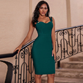 Ocstrade Vestidos Verband 2020 Neue Frauen Spaghetti Strap Sexy Grün Verband Kleid Bodycon Promi Abend Club Party Kleid