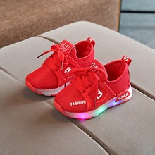 Kids Sport Shoes Flash Led Light Breathable Casual fashion for children sneakers Children #25