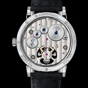 Image 5 - Super BGW9 montre mécanique pour hommes à Tourbillon mains lumineuses, Original, ST8001 calendrier, Phase lunaire, Tourbillon, Alligator