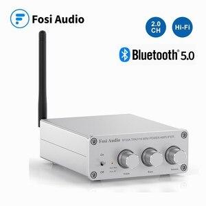 Fosi Audio BT20A wzmacniacz odbiornika Bluetooth 5.0 cyfrowy wzmacniacz mocy 2*100W Mini głośnik domowy klasy D HiFi