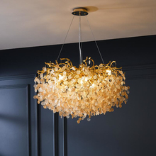 French crystal chandelier romantic golden living room dining room decoration lamp custom hotel project lighting