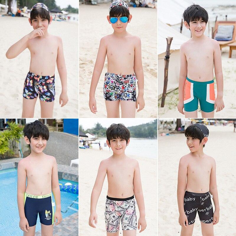 Spa Resort Big Kid Quick-Dry Comfortable Fashion AussieBum Swimming Cap Teenager Swimming Trunks Boy
