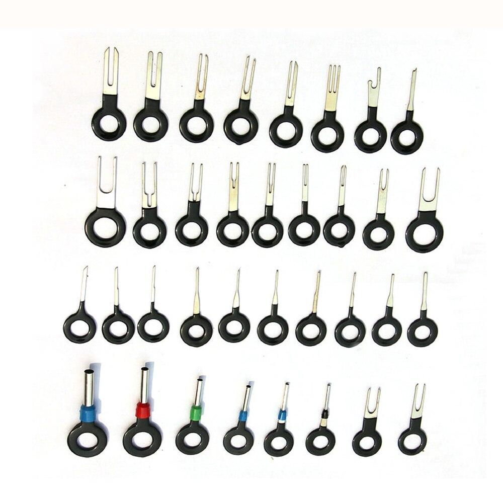 Металлический цветной заглушка ключ терминал инструменты для удаления портативный ручной инструмент набор провода соединения обжимной faston разъем прочный практичный - Цвет: 36 piece