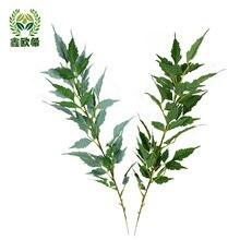 Xin ou grego folhas simuladas falso folha nephila arranjo de flores decorativo grama boquet casamento titular decoração para casa arte ga