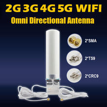 3G 4G 5G WIFI wi-fi RF 12dBi LTE Mimo Omni Directional Antenna for HUAWEI router extension cable 5 meter SMA CRC9 TS9 Connector
