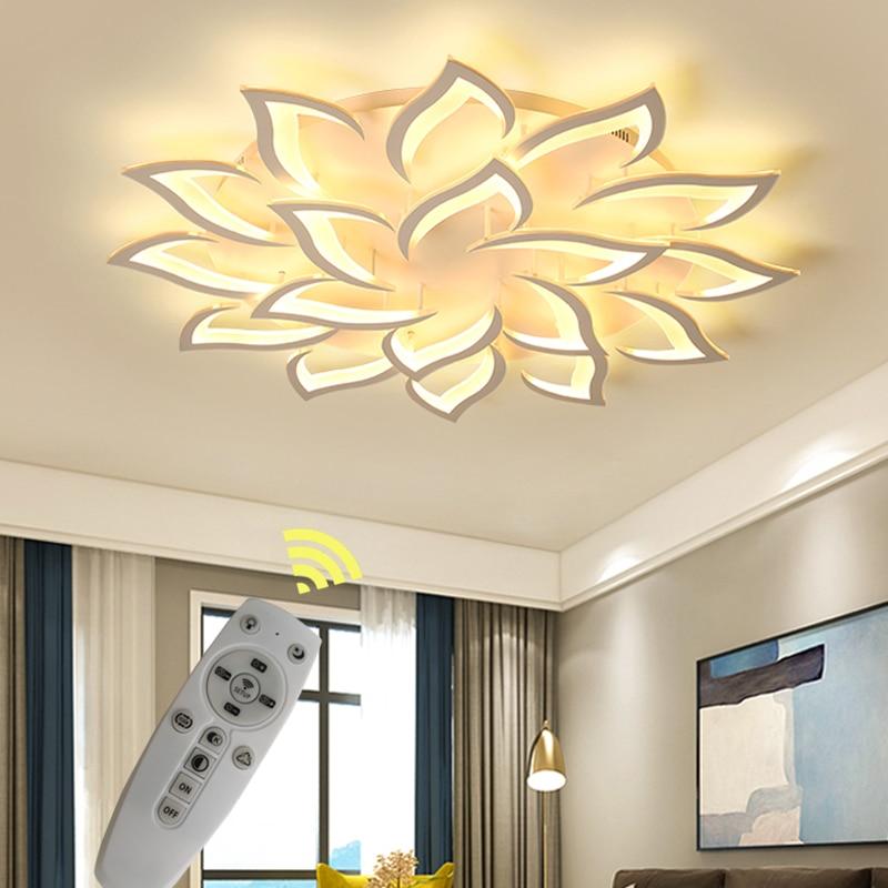 LED Chandelier Indoor Lighting Lustre chandeliers Ceiling With Remote Control Lustres Living Room Bedroom kitchen Fixture Light