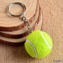 New Pendant Tennis Rackets Keychain With Ball Fashion Accessories Souvenir Gift(China)