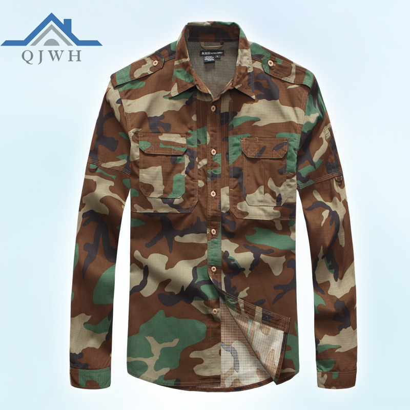 Manufacturers Direct Selling Outdoor 511 Plaid Long-sleeved Shirt City Tactical Shirt US Military Special Forces Army Fans Shirt