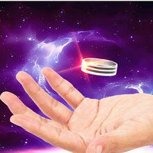 Magia flutuante anel de metal efeito flutuante de invisível terno poderoso magia voando clássico brinquedos anel de suspensão brinquedo interativo