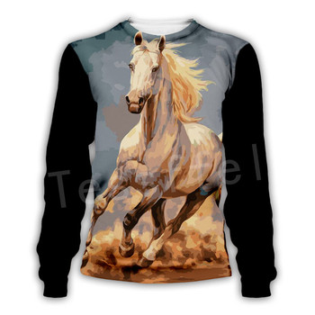 Tessffel Animal Horse art Unisex Colorful Casual Tracksuit Harajuku 3DfullPrint Zipper/Hoodies/Sweatshirt/Jacket/Mens Womens s-4 2