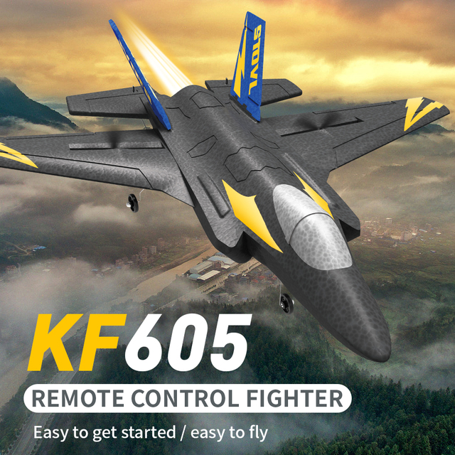 KF605 KFPLANE Fighter 2.4G 4CH 6-Axis Gyroscope Automatic Balance 360 Rollover EPP RC Glider Airplane RTF Electric RC Aircraft 1