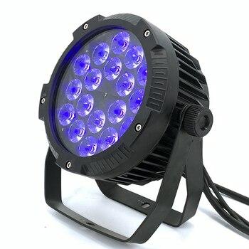 IP65 Wodoodporna 18x12W Led Par światła, RGBWA UV światła 6in1 Dj DMX512 Kontroli Profesjonalny Sprzęt DJ Etap Disco światła