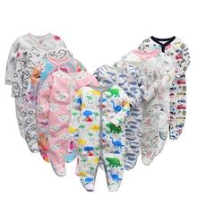 6 TEILE/LOS Baby Strampler 2019 Langarm 100% Baumwolle overalls Neugeborene kleidung Roupas de bebe jungen mädchen overall & kleidung