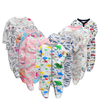6 unids/lote, peleles de bebé 2019 de manga larga, monos de algodón 100%, ropa para recién nacidos, ropa de bebé, mono y ropa para niños y niñas