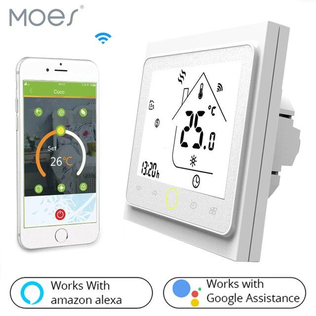 WiFi חכם תרמוסטט טמפרטורת בקר עבור מים/חשמלי רצפת חימום מים/גז הדוד עובד עם Alexa Google בית
