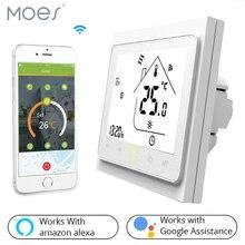 Wifi inteligente termostato controlador de temperatura para água/piso elétrico aquecimento água/caldeira a gás funciona com alexa casa do google