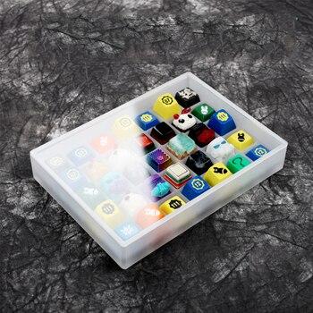 DIY acrílico Keycaps Caja 2CM OEM altura GMK Cherry DSA XDA Teclado mecánico Keycap caso para 7X5 Keycap Set Stock colección