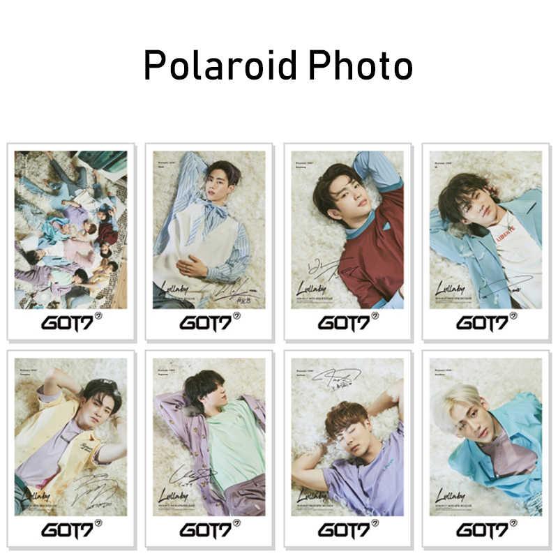 Moda Kpop GOT7 álbum de fotos Set cartel de firma bolsa de regalo GOT7 Photobook Banner insignia Polaroid foto Fans colección regalos