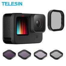 Telesin nd8 nd16 nd32 cpl lente filtro conjunto liga de alumínio quadro para gopro hero 9 câmera ação nd cpl lente accessoreis