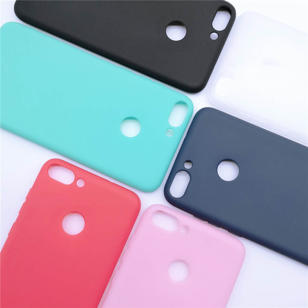Huawei <font><b>P</b></font> <font><b>smart</b></font> <font><b>5.65inch</b></font> Matte Candy Solid color Silicone TPU soft case for Huawei Psmart <font><b>P</b></font> <font><b>smart</b></font> 2017 2018 Ultra thin cover case image