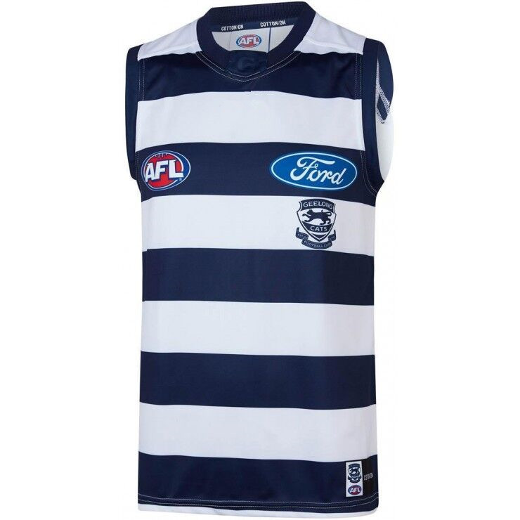 AFL GEELONG CATS 2019 MEN'S HOME JERSEY size S-3XL Print custom names and numbers Top quality Free shipping(China)