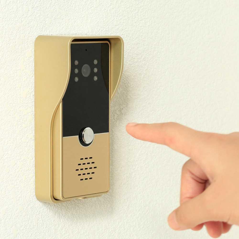 مرسى فيديو إنترفون السلكية 7 بوصة جرس باب يتضمن شاشة عرض فيديو مع 1000TVL دعوة لوحة دعم الأشعة تحت الحمراء للرؤية الليلية لنظام الفيديو باب الهاتف