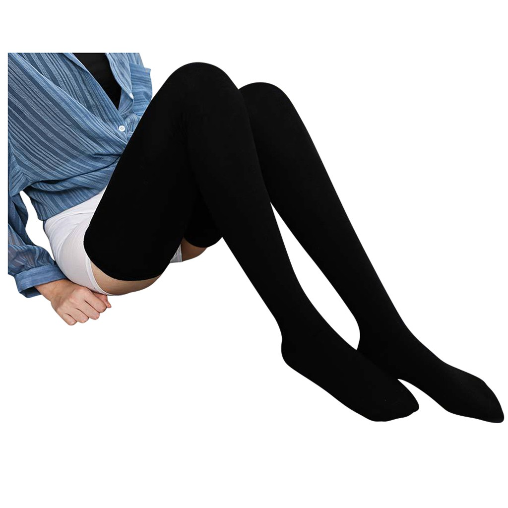 Medias largas por encima de la rodilla para mujer, calcetín Sexy, Media elástica, de algodón
