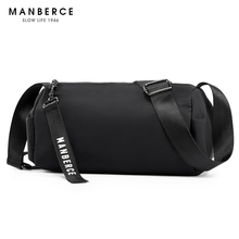 MANBERCE 2019 NEW New Recreational Mans Bag with One Shoulder and Oblique Cylinder Single Pack Free Shipping
