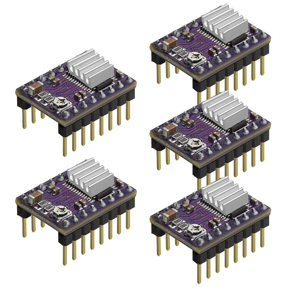 5Pcs 3D Printer Stepstick DRV8825 Stepper Motor Driver Reprap 4 Layer PCB Module For 3D Printer Replacement