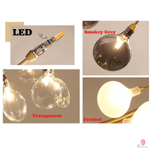Image 5 - Modern Pendant Lamp LED Firefly Branch Tree Decorative Pendant Lighting Fixture Ceiling Lamp Hanging Light G4 Bulbs Included