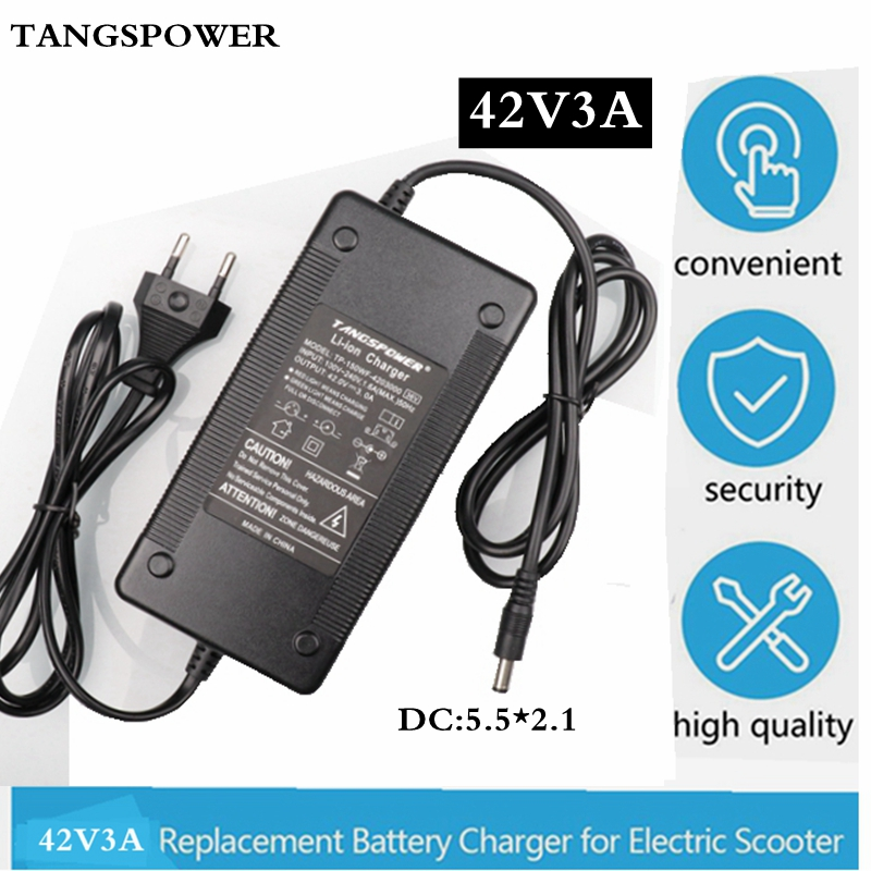 42V3A charger 42V 3A electric bike lithium battery charger for 36V lithium battery pack Plug Connector High quality