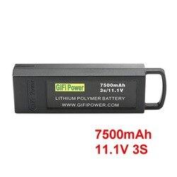 7500 mAh 11,1 V 3 S batería Lipo de vuelo de gran capacidad Drone batería de reserva para Yuneec Q500 4 K para tifón RC Drone