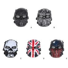 цена на 5 style Airsoft Tactical Paintball Army Protection Mask Hunting Outdoor Military Full Skull Face Protection Mask