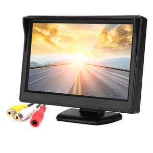 Image 4 - 5in voiture moniteur HD TFT LCD inversion Parking étanche moniteur pour voiture caméra de recul rétroviseur moniteur camara para auto