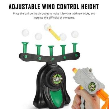 Suspensión eléctrica dardo de pelota objetivo pistola accesorios juguetes juego de disparos de Airsoft las pistolas de aire flotante bola al aire libre