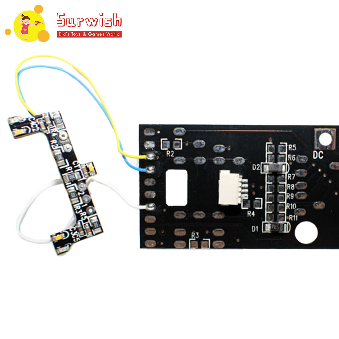 HO 1:87 Scale Train Model PCB Circuit Board With Bulb Light Sound For Sand Table