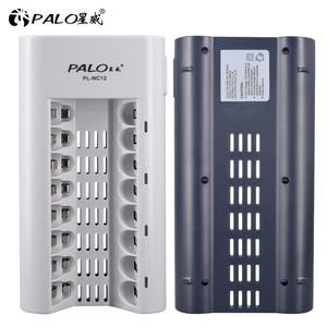 Image 5 - PALO Charger Original C808W 8 Slots Charger For AA / AAA Ni MH / Ni Cd Batteries Intelligent Rechargeable Battery Charger EU/ US