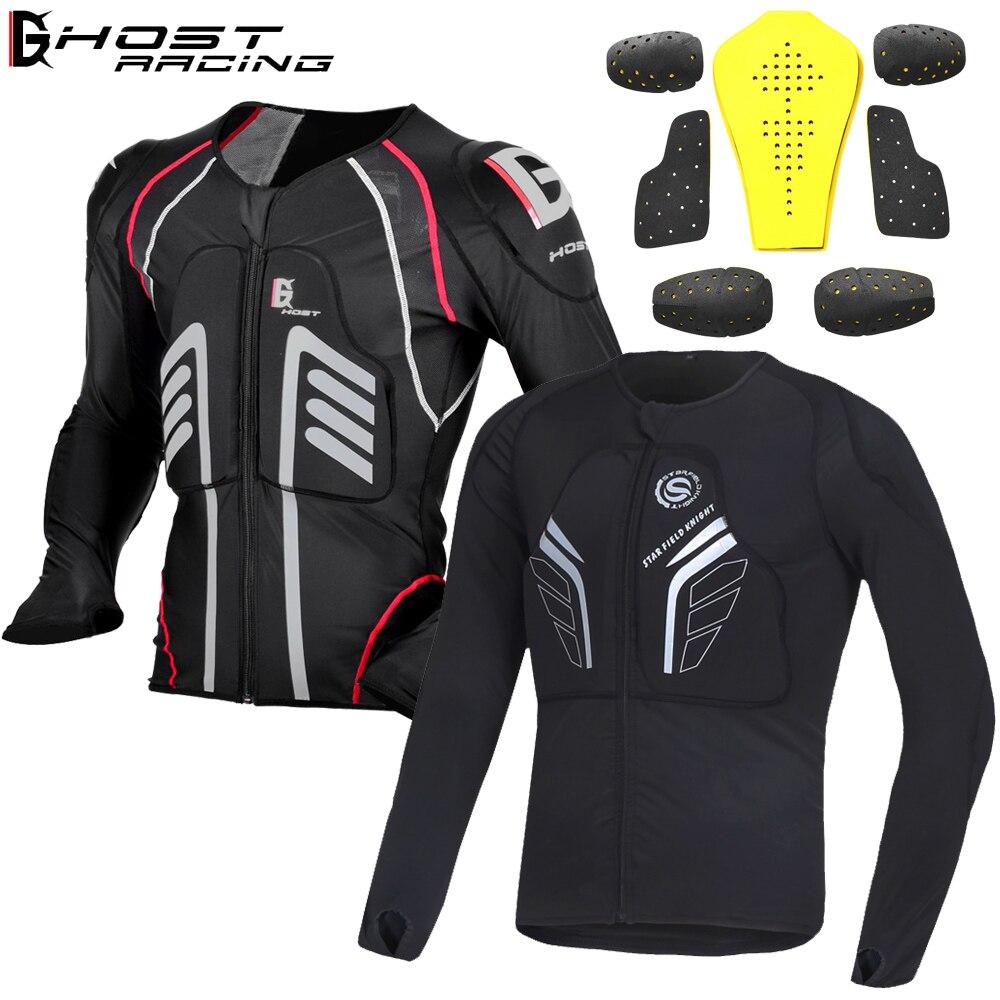 Мотоциклетная армированная куртка, полноразмерная броня для мотоциклистов, мотоциклетная защита для мотогонок с крестом, защитная Экипиро...