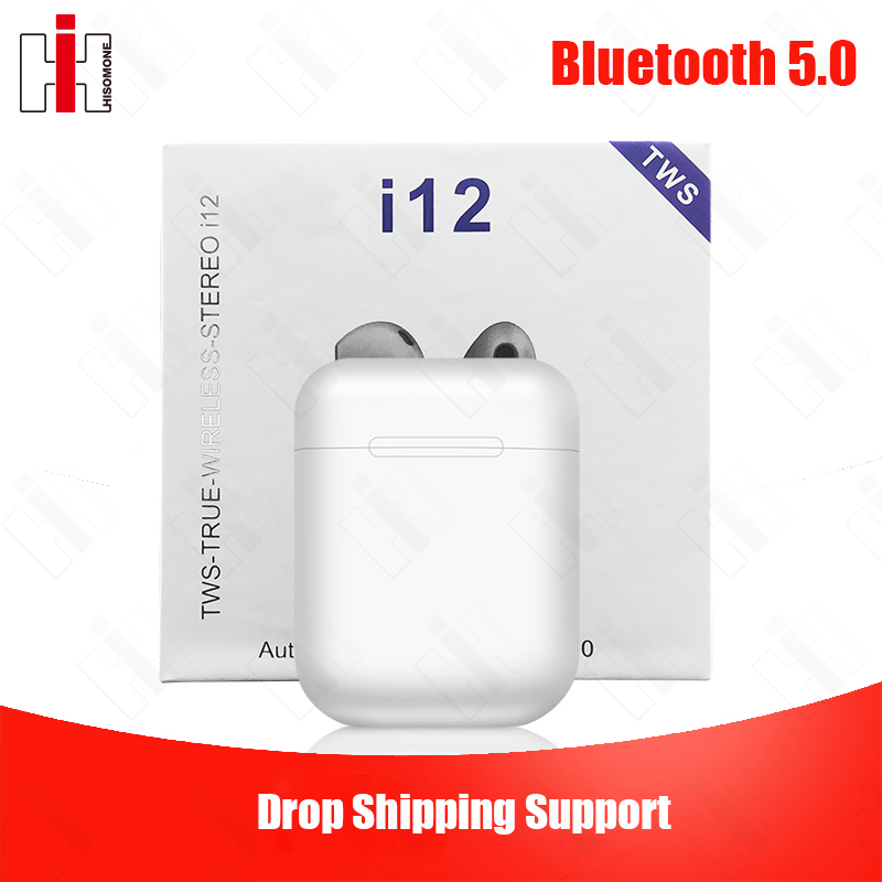 Original <font><b>i12</b></font> <font><b>TWS</b></font> Drop Shipping Pop up 1:1 Replica <font><b>Wireless</b></font> Sport <font><b>Earphone</b></font> <font><b>Bluetooth</b></font> <font><b>5.0</b></font> Bass Earbud PK Redmi Airdots i20 i30 <font><b>tws</b></font> image
