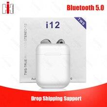 Original i12 TWS Drop Shipping Pop up 1:1 Replica Wireless Sport Earphone Bluetooth 5.0 Bass